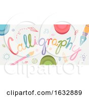 Calligraphy Text Design Illustration