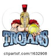 Trojan Spartan Tennis Sports Mascot