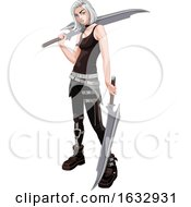 Female Warrior With Swords