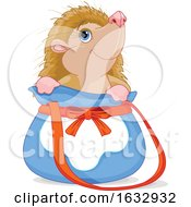 Cute Hedgehog In A Bag by Pushkin