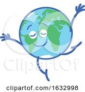 Poster, Art Print Of Earth Globe Character Dancing