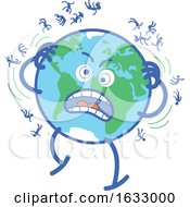 Earth Globe Character Desperately Scratching Humans Off
