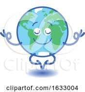 Earth Globe Character Meditating by Zooco