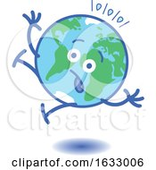 Poster, Art Print Of Earth Globe Character Falling