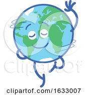 Poster, Art Print Of Earth Globe Character Spinning
