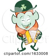 Poster, Art Print Of St Patricks Day Leprechaun Playing An Accordion