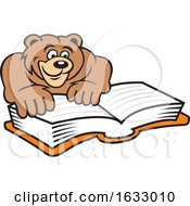 Cartoon Bear Reading A Book by Johnny Sajem