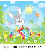 Poster, Art Print Of Easter Bunny Painting An Egg