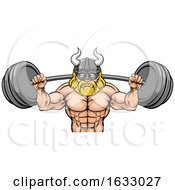 Viking Weight Lifting Body Building Mascot by AtStockIllustration