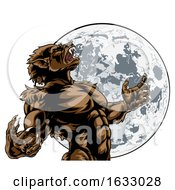 Poster, Art Print Of Howling Full Moon Werewolf Monster