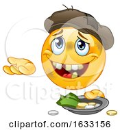 Homeless Begging Yellow Emoticon Smiley Emoji by yayayoyo #COLLC1633156-0157