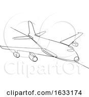 03/11/2019 - Jumbo Jet Plane Airliner Continuous Line