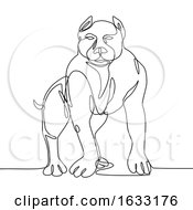 American Bully Continuous Line