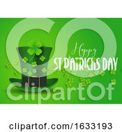 St Patricks Day Background With Top Hat And Shamrock