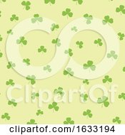St Patricks Day Background With Shamrock Pattern by KJ Pargeter