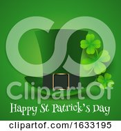 St Patricks Day Background With Top Hat And Shamrock by KJ Pargeter