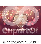 Poster, Art Print Of Mothers Day Background With Heart Design