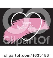 Mothers Day Background With Grunge Paint Stroke In Heart