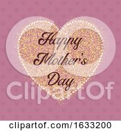 Happy Mothers Day Heart Background