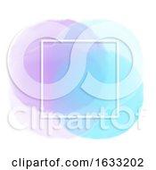 White Frame On Pastel Watercolour Background