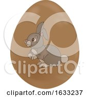 Chocolate Easter Egg With A Rabbit