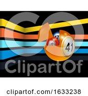 3D Bingo Ball with Flying Portion Containing Other Bingo Balls by elaineitalia #COLLC1633238-0046