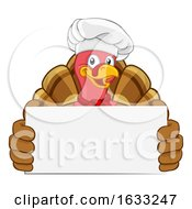 Turkey Chef Thanksgiving Or Christmas Cartoon