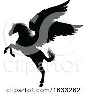 Poster, Art Print Of Pegasus Silhouette Mythological Winged Horse