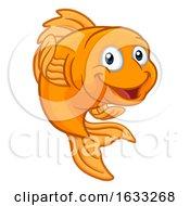 Gold Fish Or Goldfish Cartoon Character