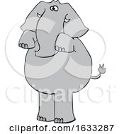 Cartoon Elephant Begging