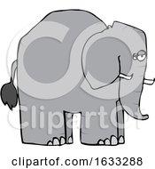 Cartoon Elephant In Profile