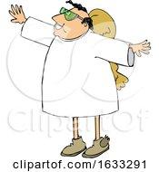 Poster, Art Print Of Cartoon Male Angel Wearing Sunglasses