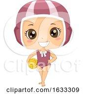 Kid Girl Water Polo Illustration