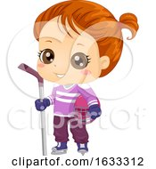 Kid Girl Ice Hockey Outfit Illustration by BNP Design Studio