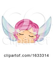 Kid Girl Fairy Sleeping Illustration