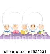 Stickman Kids Girls Classmates Books Illustration