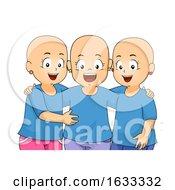 Kids Girls Alopecia Illustration