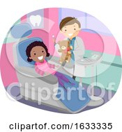 Stickman Kid Girl Dentist Toy Illustration