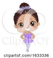Kid Girl Figure Skating Illustration