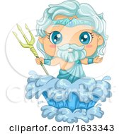 Poster, Art Print Of Kid Boy Poseidon Illustration