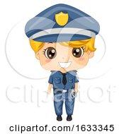Kid Boy Police For Day Illustration