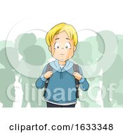 Kid Boy Outcast Student Illustration