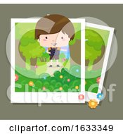 Kid Boy Nature Photography Illustration