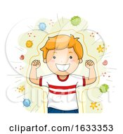 Shield Against Viruses Strong Kid Illustration
