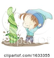 Kid Boy Gnome Plant Grow Illustration