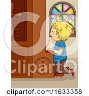 Kid Boy Church Confession Illustration