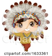 Kid Boy Native American Chief Costume Dance