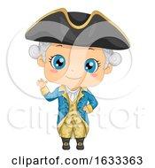 Kid Boy George Washington Costume Illustration