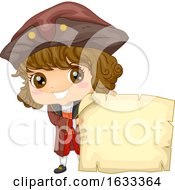Kid Boy Christopher Columbus Paper Illustration