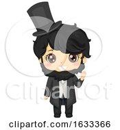 Kid Boy Abraham Lincoln Costume Illustration